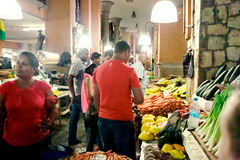 Central marknad av Port Louis, Mauritius Arkivbild