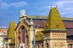 Central marknad Hall Budapest Hungary arkivfoto