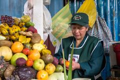 Central marknad i Cusco, Peru Royaltyfria Bilder