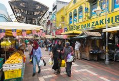 Central marknad i Kuala Lumpur Arkivfoton