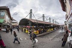 Central marknad i Targu-Jiu, 08 oktober 2014 Royaltyfria Bilder