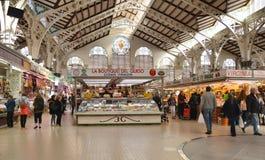 Central marknad - Mercado central i Plaza Ciudad De Brujas, Valencia Royaltyfri Foto