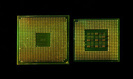 Central microprocessors for a computer Stock Images