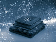 Central microprocessors for a computer Stock Image