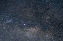 The central of the Milky ways Royalty Free Stock Photo