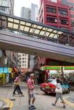 Central-Mitt--nivåer rulltrappa i Hong Kong Arkivfoton