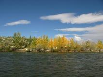 Central Mongolia landscape, Selenge river Stock Photography