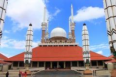 Central moské av centrala java arkivfoto