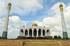 Central moské av det Songkhla landskapet, Thailand Royaltyfri Fotografi