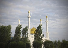 Central mosque of Astana. Kazakhstan. Central mosque of Astana in the summer greens Royalty Free Stock Photography