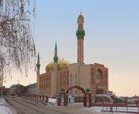 Central Mosque named by R.G. Galeev. Almetyevsk Royalty Free Stock Photography