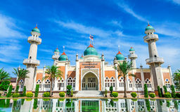 Central Mosque of Pattani Southern Thailand. Central Mosque of Pattani with reflection and bright blue sky, Southern Thailand royalty free stock photos