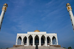 Central mosque of Songkhla province, Thailand. Huge mosque in south ot Thailand Royalty Free Stock Photo
