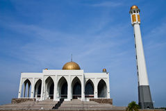 Central mosque of Songkhla province, Thailand. Huge mosque in south ot Thailand Royalty Free Stock Photography