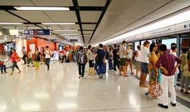 Central mtrstation, Hong Kong Royaltyfri Fotografi