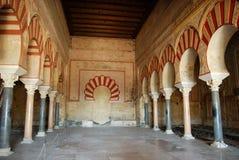 Central nave, Medina Azahara, Spain. Central nave, Hall of Abd al-Rahman III, Medina Azahara (Madinat al-Zahra), Near Cordoba, Cordoba Province, Andalusia Royalty Free Stock Photos