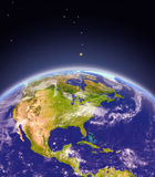 Central and North America from space Stock Photo