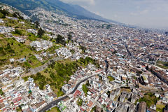 Central and northern Quito Royalty Free Stock Photo
