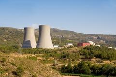 Central nuclear fotografía de archivo libre de regalías