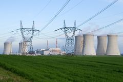 Central nuclear imagens de stock