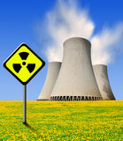 Central nuclear Foto de Stock Royalty Free