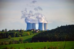 Central nuclear #3 foto de stock