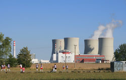 Central nuclear 8 Foto de Stock Royalty Free