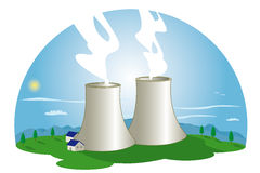 Central nuclear Imagenes de archivo