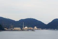 Central nuclear de Angra, Rio de Janeiro, el Brasil Foto de archivo