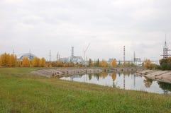 Central nuclear de Chernóbil, reactor 4 Imágenes de archivo libres de regalías