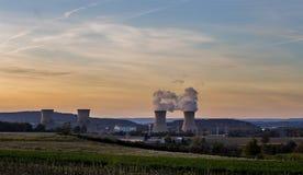 Central nuclear de tres Mile Island imágenes de archivo libres de regalías