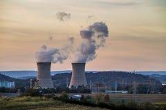 Central nuclear de tres Mile Island foto de archivo