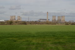 Central nuclear, Didcot. Inglaterra Foto de archivo