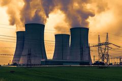 Central nuclear Dukovany em República Checa Europa Fotografia de Stock