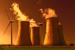 Central nuclear Dukovany em República Checa Europa Fotos de Stock Royalty Free