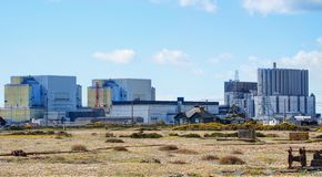 Central nuclear, Dungeness, Kent imagens de stock