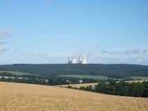 Central nuclear en la República Checa Imágenes de archivo libres de regalías