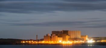 Central nuclear, industria de la energética Fotografía de archivo