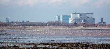 Central nuclear Somerset do ponto de Hinkley, Reino Unido Imagem de Stock
