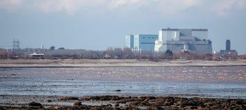 Central nuclear Somerset do ponto de Hinkley, Reino Unido Imagem de Stock