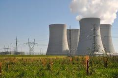 Central nuclear Temelin Imagenes de archivo
