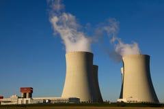 Central nuclear Temelin em República Checa Europa Foto de Stock Royalty Free