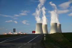 Central nuclear Temelin em República Checa Europa Fotografia de Stock