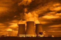 Central nuclear Temelin em República Checa Europa Imagens de Stock