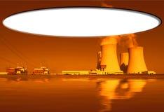 Central nuclear Temelin em República Checa Europa Fotografia de Stock Royalty Free