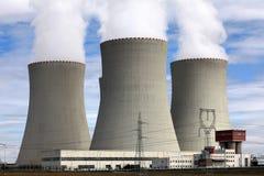 Central nuclear Temelin en la República Checa Europa Imagen de archivo libre de regalías