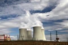Central nuclear Temelin en la República Checa Europa Fotografía de archivo libre de regalías