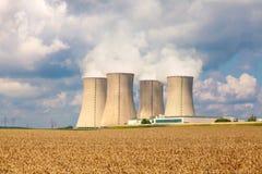 Central nuclear Temelin en la República Checa Europa Imágenes de archivo libres de regalías
