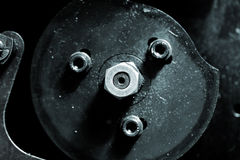 Central nut of the shaft Royalty Free Stock Image