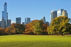central ny park york för höst Royaltyfri Bild